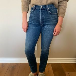 Citizens of Humanity dark wash straight leg jeans